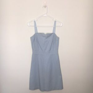 J. CREW | SIZE 0 | BLUE SEERSUCKER DRESS